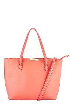 Caprese Marie Coral Pink Solid Shoulder Bag - Mp000000001867755
