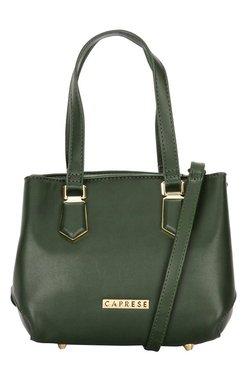 Caprese Augustina Forest Green Solid Shoulder Bag