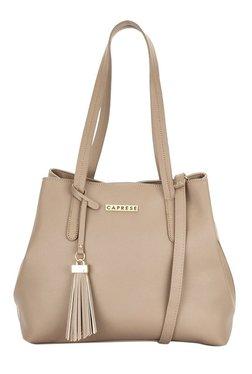 Caprese Sydney Dark Beige Solid Shoulder Bag
