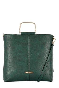 Caprese Julieta Emerald Green Solid Sling Bag