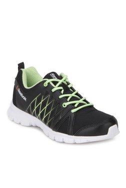 8d178d0a43d4 Reebok Pulse Run Black   Green Running Shoes