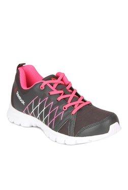 Reebok Pulse Run Black   Pink Running Shoes eaaad39b5