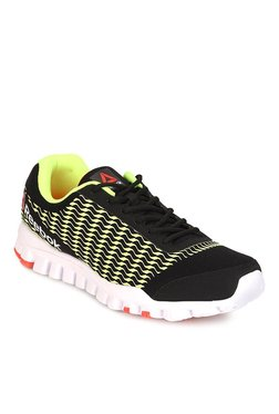 Reebok Flex Ignite Black   Neon Green Running Shoes 2167a92fb