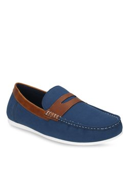 Bond Street By Red Tape Blue & Brown Loafers