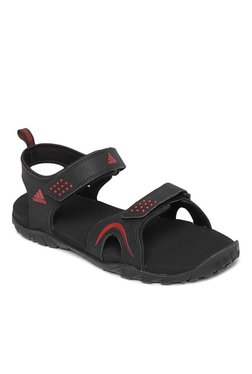4924601b36b6 Adidas Black   Red Floater Sandals