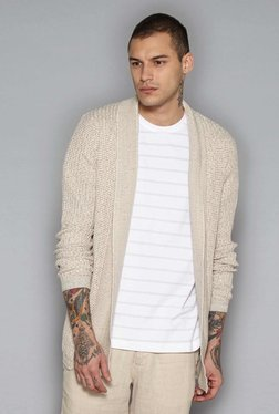 ETA By Westside Beige Slim Fit Cardigan