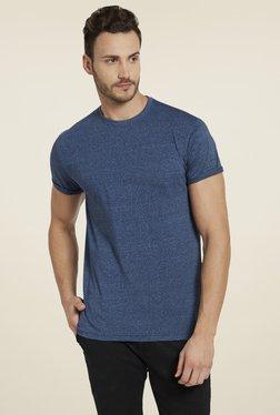 Globus Navy Round Neck Regular Fit T-Shirt