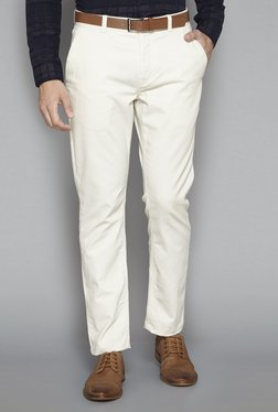 Ascot By Westside Beige Slim Fit Chinos With Belt