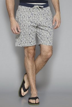 Bodybasics By Westside Grey Melange Regular Fit Shorts