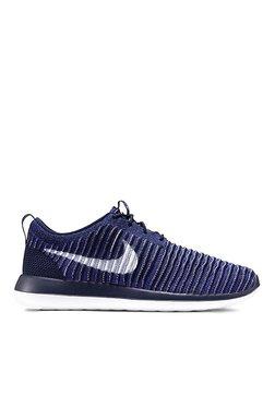 Nike Roshe Two Flyknit Blue & Navy Running Shoes