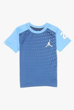 0bfefbd8fd5f23 Jordan Kids Blue Printed T-Shirt