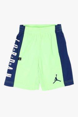 196d7febb8b875 Jordan Kids Green Solid Shorts