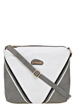 Esbeda Drymilk Grey & White Color Block Sling Bag