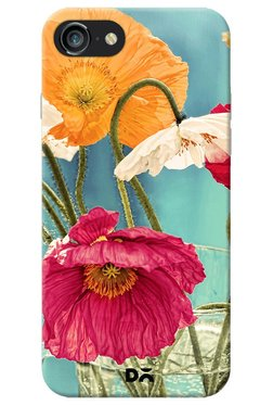 DailyObjects Vintage Toned Poppy Flower Case For IPhone 8