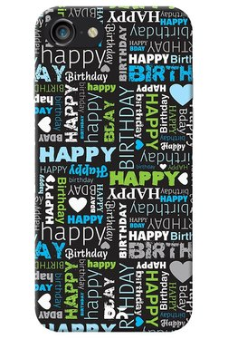 DailyObjects Happy Birthday Type Case For IPhone 8