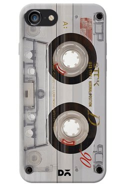 DailyObjects Transparent Cassette Case for iPhone 8
