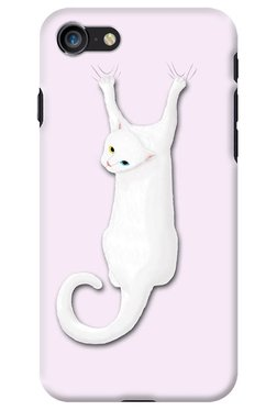 DailyObjects Cat On The Drapes Case For IPhone 8