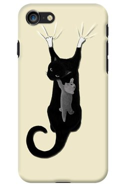 DailyObjects Cats On The Drapes Case For IPhone 8