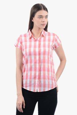Pepe Jeans Pink Women Checks Shirt