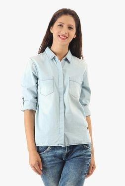 Pepe Jeans Blue Full Sleeves Shirt
