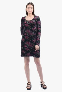 Pepe Jeans Black Floral Print Above Knee Dress