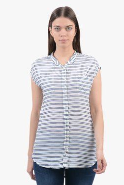Pepe Jeans Off White Striped Shirt