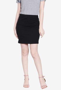 Globus Black Polyester Above Knee Skirt