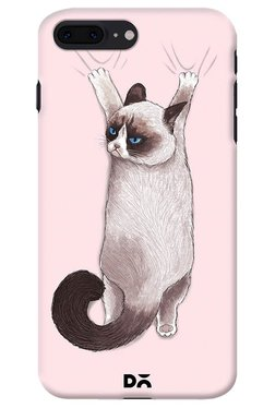 DailyObjects Grumpy Cat On Drapes Case For IPhone 8 Plus