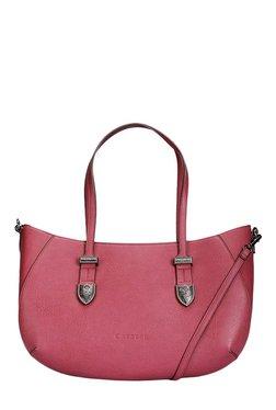 Caprese Miles Berry Red Solid Shoulder Bag