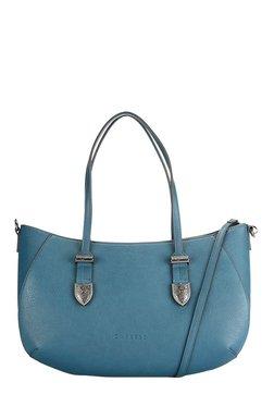 Caprese Miles Teal Blue Solid Shoulder Bag