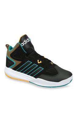 size 40 a7eba 2edd0 Adidas Neo Cloudfoam Thunder Mid Black Basketball Shoes