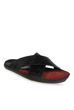 Ruosh Black Ethnic Sandals