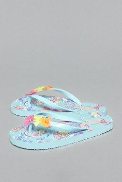Yellow By Westside Blue Floral Flip-Flops