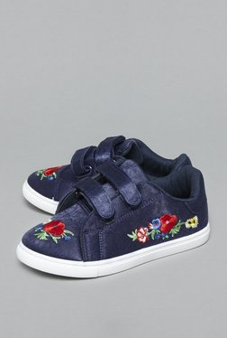 Yellow By Westside Navy Floral Sneakers