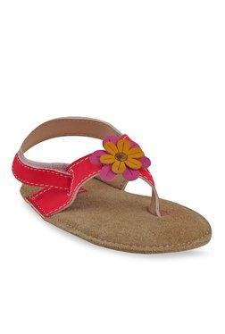 Beanz Petite Pramy Red Back Strap Sandals