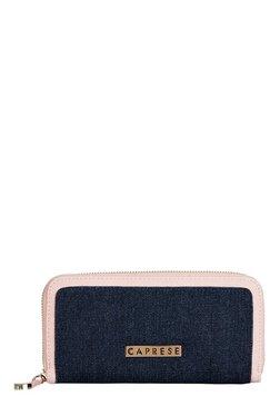 Caprese Denise Soft Pink & Denim Blue Embellished Wallet