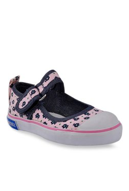 Beanz Rush Rhea Baby Pink & Navy Mary Jane Shoes