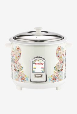 Butterfly Raga 1.8 L Electric Rice Cooker (White)
