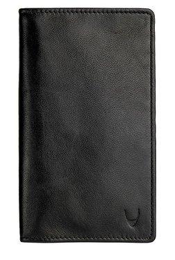 Hidesign 277 F031SB Black Solid Leather Passport Wallet