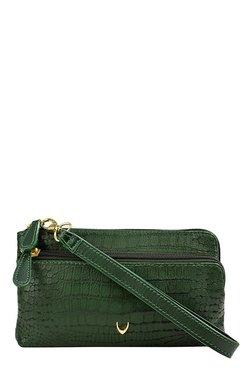 Hidesign SB Paola W1 Green Textured Leather Wristlet