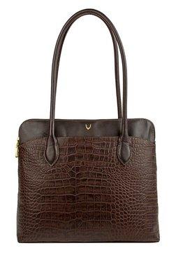Hidesign SB Fabiola 2 Brown Textured Leather Shoulder Bag