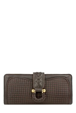 Hidesign SB Frieda W1 Brown Textured Leather Bi-Fold Wallet