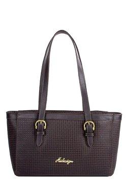 Hidesign Dubai 1 SB Dark Brown Textured Leather Shoulder Bag