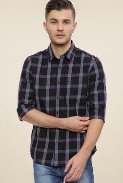 Basics Black Slim Fit Checks Shirt