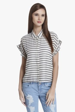 Only Off White Striped Shirt