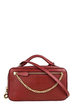 Hidesign SB Veronika W1 Red Textured Leather Sling Bag