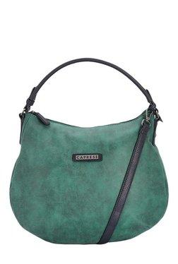 Caprese Perry Green Solid Hobo Shoulder Bag