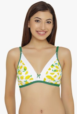 Clovia Green & Off White Non Wired Non Padded T-Shirt Bra