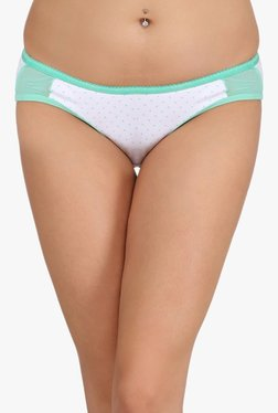 Clovia White Polka Dot Low Waist Bikini Panty