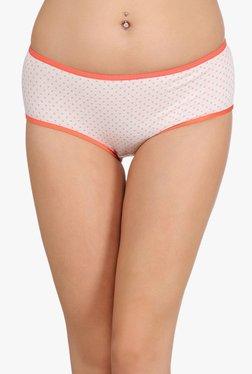 Clovia Orange Polka Dot Mid Waist Hipster Panty